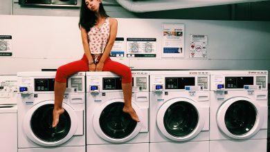 Photo of Kast voor wasmachine en droger op elkaar