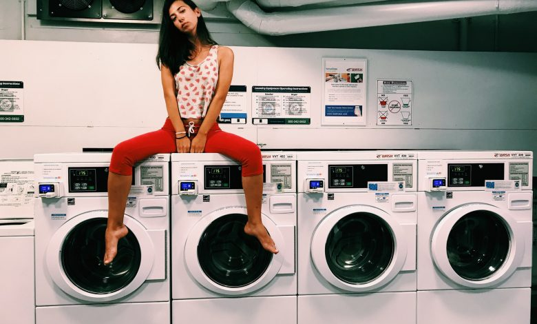 wasmachine en droger in kast